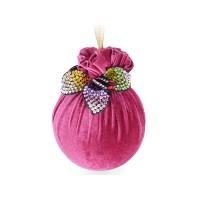Елочный шар с украшением Цветик-семицветик Бордовая феерия 10 см