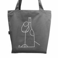 Эко сумка L Вино. Сіра