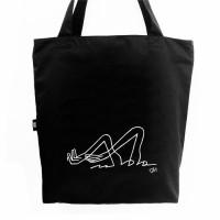 Эко сумка L Плавець. Чорна