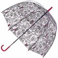 Женский зонт-трость Lulu Guinness by Fulton L719 Birdcage-2 Dressing Table