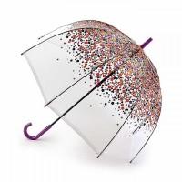 Женский зонт-трость прозрачный Fulton L042 Birdcage-2 Hippie Scatter
