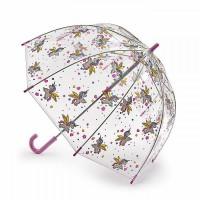 Детский зонт-трость прозрачный Fulton Funbrella-4 C605 Bella The Unicorn