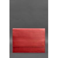 Кожаная папка для документов А4 на магнитах BlankNote красная