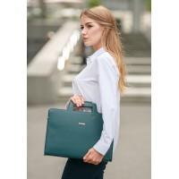 Кожаная сумка для ноутбука и документов BlankNote зеленая
