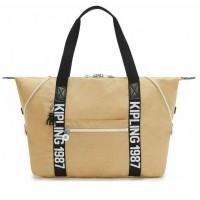 Женская сумка Kipling ART M Beige Black KI2522_85V