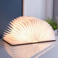 Светильник-книга Smart Book Gingko мини натуральная кожа