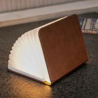 Светильник-книга Smart Book Gingko натуральная кожа