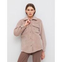 Женская рубашка-пальто Season бежевая