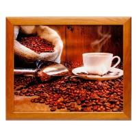 Поднос на подушке Кофемолка, мешочек, чашка