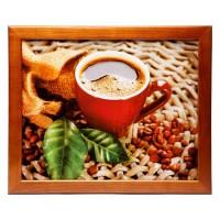 Поднос на подушке Свежесть и кофе