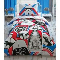 Комплект постельного белья Tac Disney Star Wars Galactic Mission подростковое