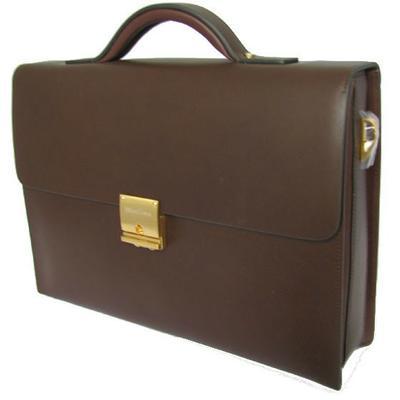 Краткое описание Кожаный классический портфель Wanlima, цвета.