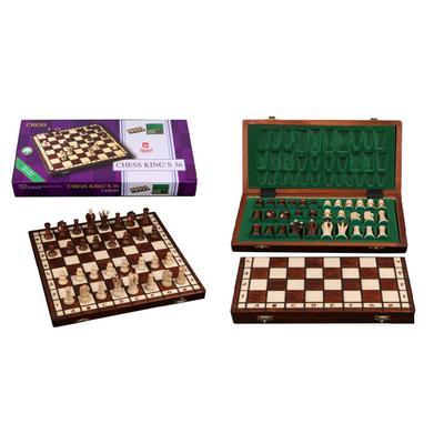 Шахматы Wiegel Royal-36 коричневые 2022